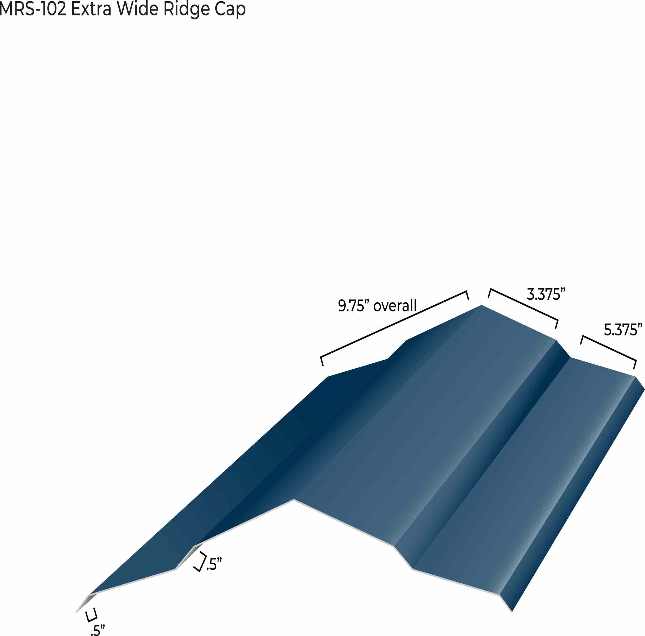 MRS-102 Extra Wide Ridge Cap